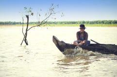jeziorni Cambodia ludzie sap tonle Zdjęcia Royalty Free