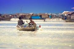 jeziorni Cambodia ludzie sap tonle Obrazy Stock