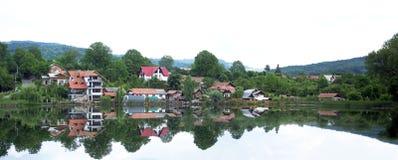 Jeziorni domy Obrazy Royalty Free