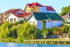 Jeziorni domy Zdjęcie Stock