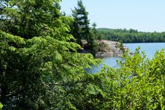 Jeziorni krajobrazy, Estrie, Kanada Fotografia Royalty Free