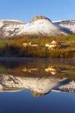 Jeziorni odbicia Ungino góra Obrazy Stock