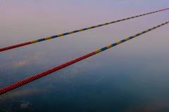 Jeziorni Pływaccy terenów markiery Abstrakcjonistyczni Fotografia Stock