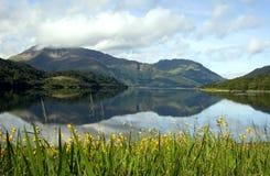 jeziorni refleksje górskie obrazy royalty free