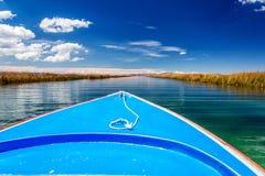 Jeziorni Titicaca kanały Zdjęcie Stock