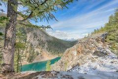 Jeziorny Agnes, Banff park narodowy Fotografia Royalty Free