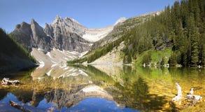 Jeziorny Agnes, Banff park narodowy Zdjęcia Royalty Free