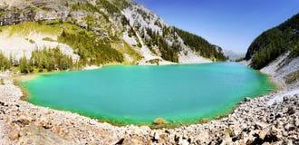 Jeziorny Agnes ślad, Banff park narodowy Obrazy Stock