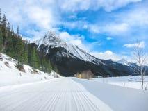 Jeziorny Alberta Kanada zimy śnieżny czas Obraz Royalty Free