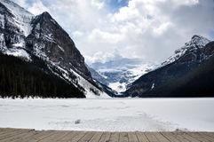 jeziorny Alberta park narodowy Banff Canada Louise Obrazy Royalty Free