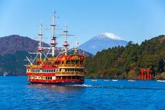 Jeziorny Ashi Fuji i góra Obraz Royalty Free