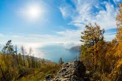 Jeziorny Baikal, kamień Obrazy Stock