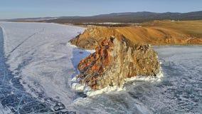 Jeziorny Baikal, Olkhon, przylądek Burhan Zdjęcie Royalty Free