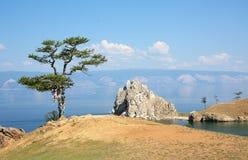 Jeziorny Baikal w Irkutsk regionie Obrazy Royalty Free