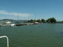 Jeziorny Balaton przy wczesnym latem Zdjęcia Stock
