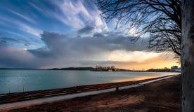 Jeziorny Balaton, Węgry Obrazy Royalty Free