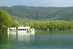 Jeziorny Banyoles jest wielkim jeziorem w Catalonia Obraz Stock