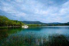 Jeziorny Banyoles jest wielkim jeziorem w Catalonia Zdjęcia Royalty Free