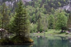Jeziorny Blausee, Szwajcaria Fotografia Stock