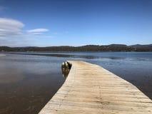 Jeziorny boardwalk Zdjęcia Royalty Free