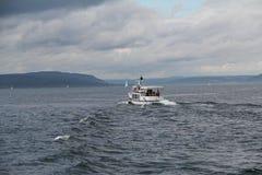 Jeziorny Bodensee na chmurnym dniu Zdjęcia Royalty Free