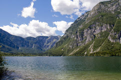 Jeziorny Bohinj w Solvenia fotografia royalty free