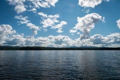 Jeziorny Bomoseen dzień fotografia royalty free