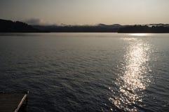 Jeziorny Bomoseen Mglisty ranek Zdjęcie Stock