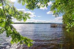 Jeziorny brzeg Obrazy Royalty Free