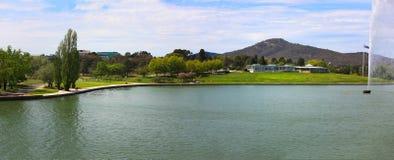 Jeziorny Burley gryf, Canberra, panorama Zdjęcia Stock