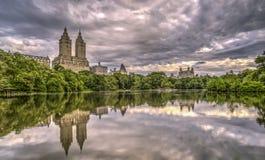 Jeziorny central park, Miasto Nowy Jork zdjęcie stock