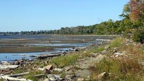 Jeziorny Champlain, Vermont, niscy poziomy wody Zdjęcia Stock