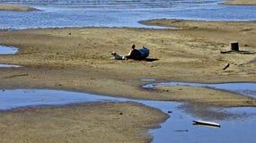 Jeziorny Champlain, Vermont, niscy poziomy wody Fotografia Royalty Free