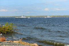Jeziorny Champlain, Vermont, usa obrazy royalty free