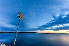 Jeziorny Champlain zmierzch Obrazy Stock