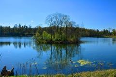 Jeziorny Chernoye w Gatchina petersburg Rosji st Zdjęcia Stock