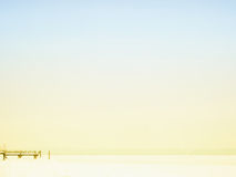 Jeziorny chiemsee w zima sezonie (2) obraz royalty free