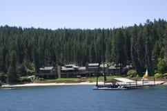 Jeziorny Coeur dAlene Idaho blisko Spokane Waszyngton obrazy royalty free