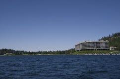 Jeziorny Coeur dAlene Idaho blisko Spokane Waszyngton fotografia stock