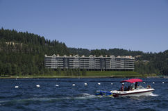 Jeziorny Coeur dAlene Idaho blisko Spokane Waszyngton obrazy stock