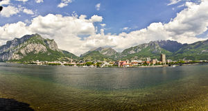 Jeziorny Como, Lecco, Włochy Obraz Royalty Free