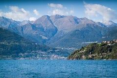 Jeziorny Como miasteczko Obrazy Royalty Free