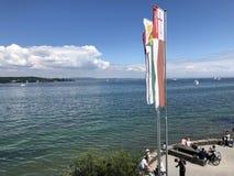 Jeziorny Constance lub Bodensee w Kreuzlingen, Szwajcaria zdjęcie royalty free