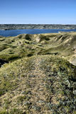 Jeziorny Diefenbaker ślad obrazy stock