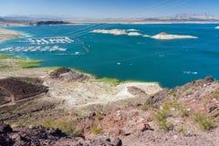 Jeziorny dwójniak blisko Hoover tamy między Nevada i Arizona, usa Zdjęcie Stock