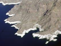 Jeziorny dwójniak i góry Zdjęcia Royalty Free
