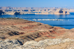 Jeziorny dwójniak między Nevada i Arizona Obrazy Stock
