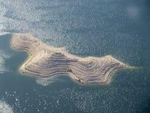 Jeziorny dwójniak, Nevada, usa widzieć od helikopteru Zdjęcia Royalty Free