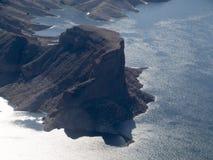 Jeziorny dwójniak, Nevada, usa widzieć od helikopteru Obraz Royalty Free
