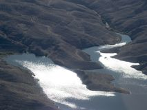 Jeziorny dwójniak, Nevada, usa widzieć od helikopteru Zdjęcie Royalty Free